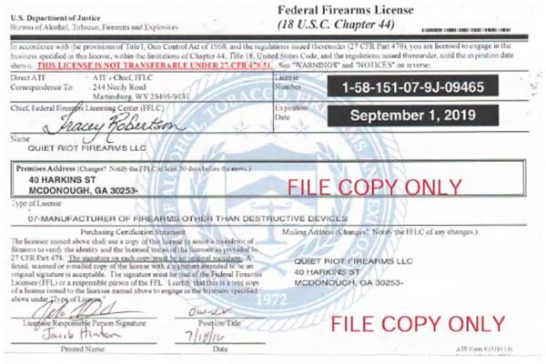How To Get An FFL And Your Firearm